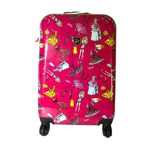 Betsey Johnson Pink Paper Doll Carryon Suitcase